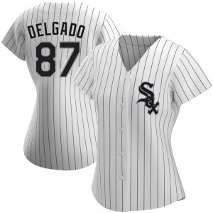 Women's Lency Delgado Chicago White Sox Authentic White Home Jersey